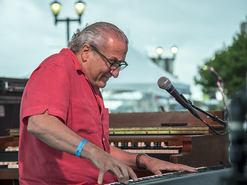 Joe Krown at Day 2 of French Quarter Festival - 4.13.18. Photo by Marc PoKempner.