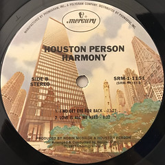 HOUSTON PERSON:HARMONY(LABEL SIDE-B)
