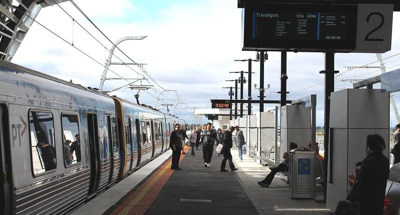 Outbound Metro train at Clayton station