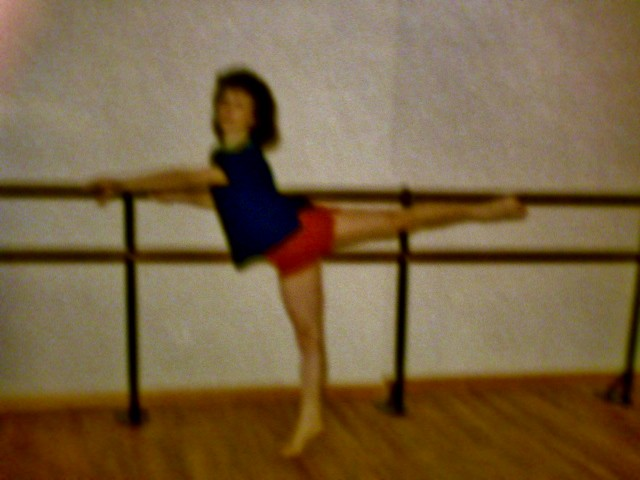 Me, practicing Dance, age 12, Fujifilm A100