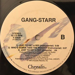 GANG STARR:JUST TO GET A REP(LABEL SIDE-B)