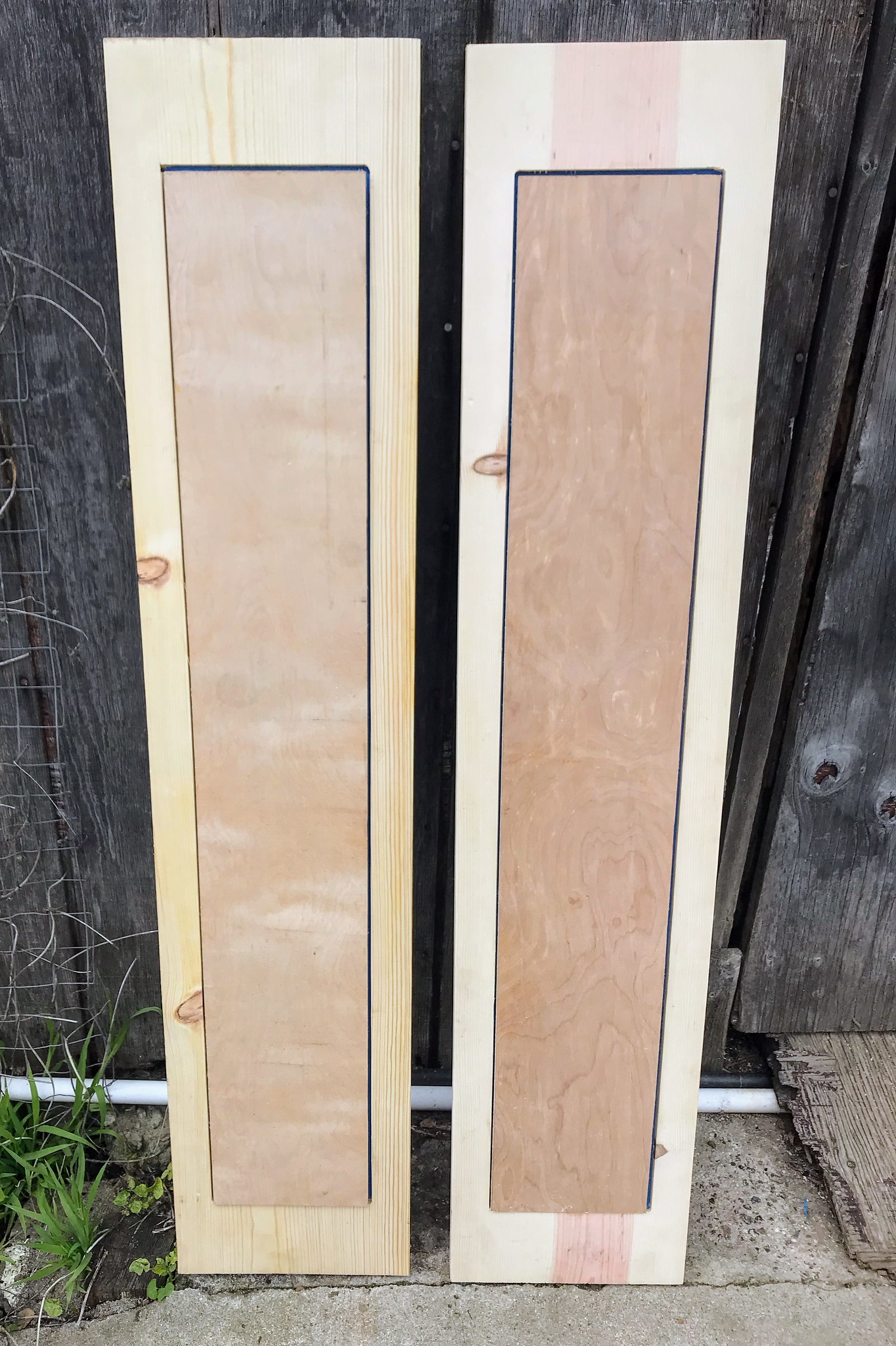 Dry fitting the observation window shutters