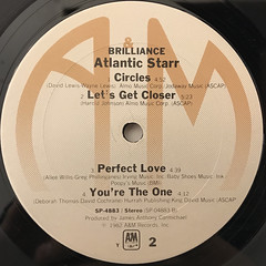ATLANTIC STARR:BRILLIANCE(LABEL SIDE-B)