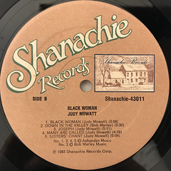 JUDY MOWATT:BLACK WOMAN(LABEL SIDE-B)