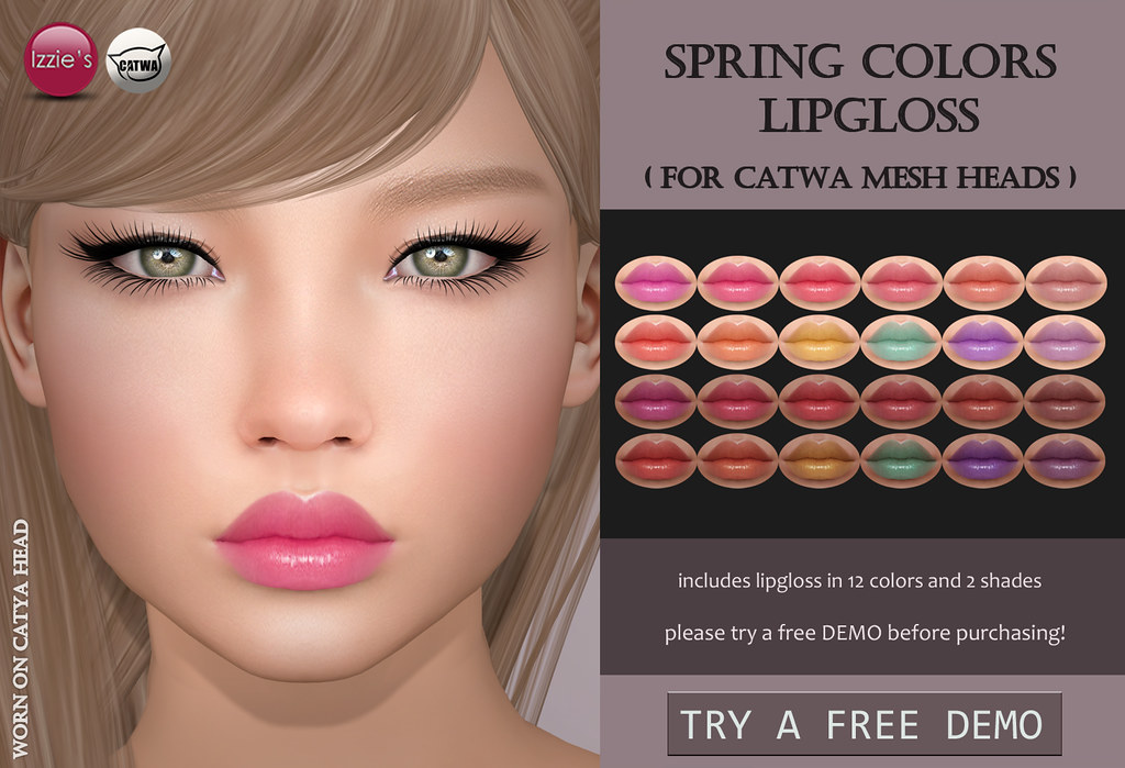 Spring Colors Lipgloss Catwa (for FLF) - TeleportHub.com Live!