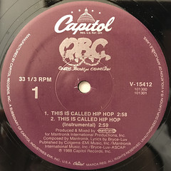 Q.B.C.:THIS IS CALLED HIP HOP(LABEL SIDE-A)