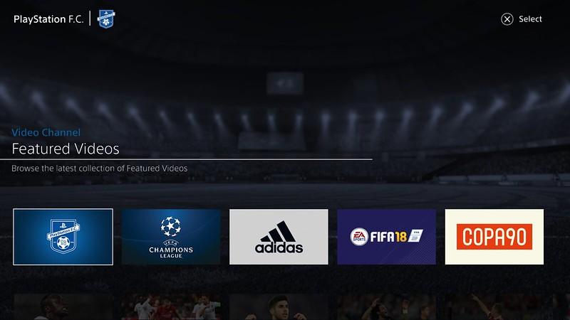 PlayStation F.C. app