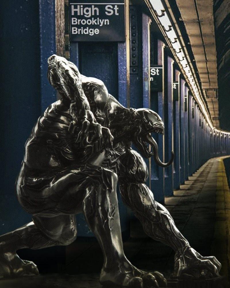 白閃閃的猛毒新感覺登場!! Royal Selangor Marvel Comics【猛毒 Dark Origin】Venom Dark Origin 全身合金小雕像