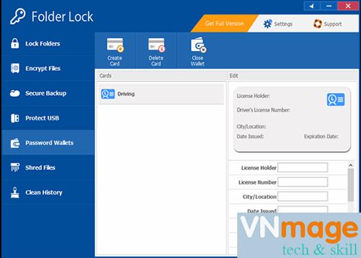 Phần mềm khóa và mã hóa dữ liệu Folder Lock