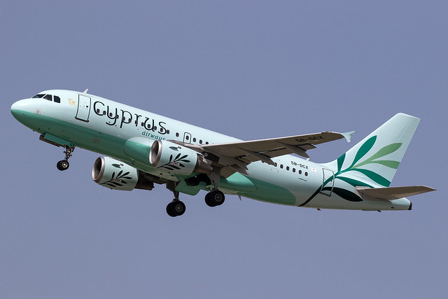 Cyprus Airways_A319_5B-DCX__ZRH_20180526_Takeoff_Sun_MG_3541_Colormailer_Flickr