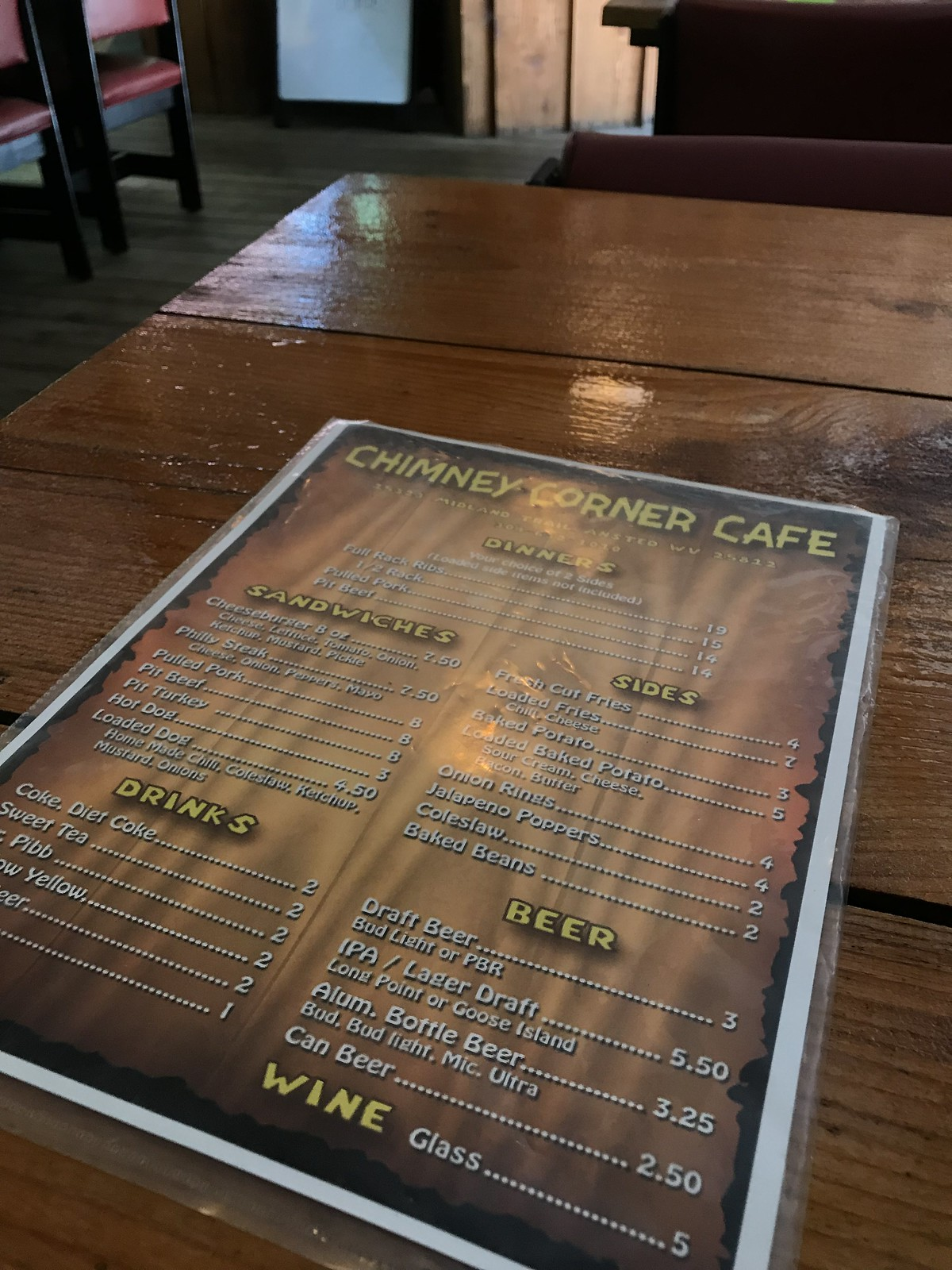 Chimney Corner Cafe