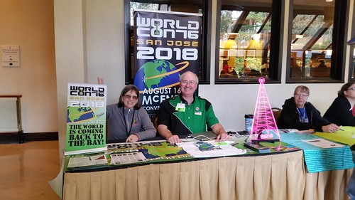 Worldcon 76 table at Norwescon