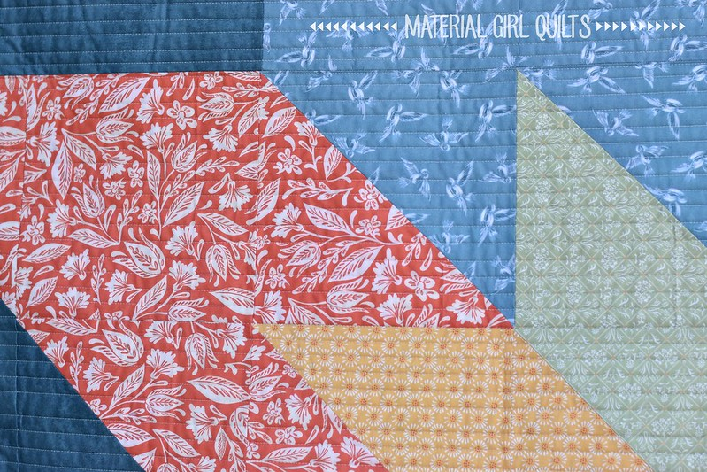 Double Star quilt by Amanda Castor of Material Girl Quilts {free pattern}
