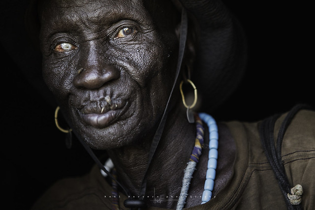Mursi old man. Mago National Park, Omo Valley, Ethiopia.