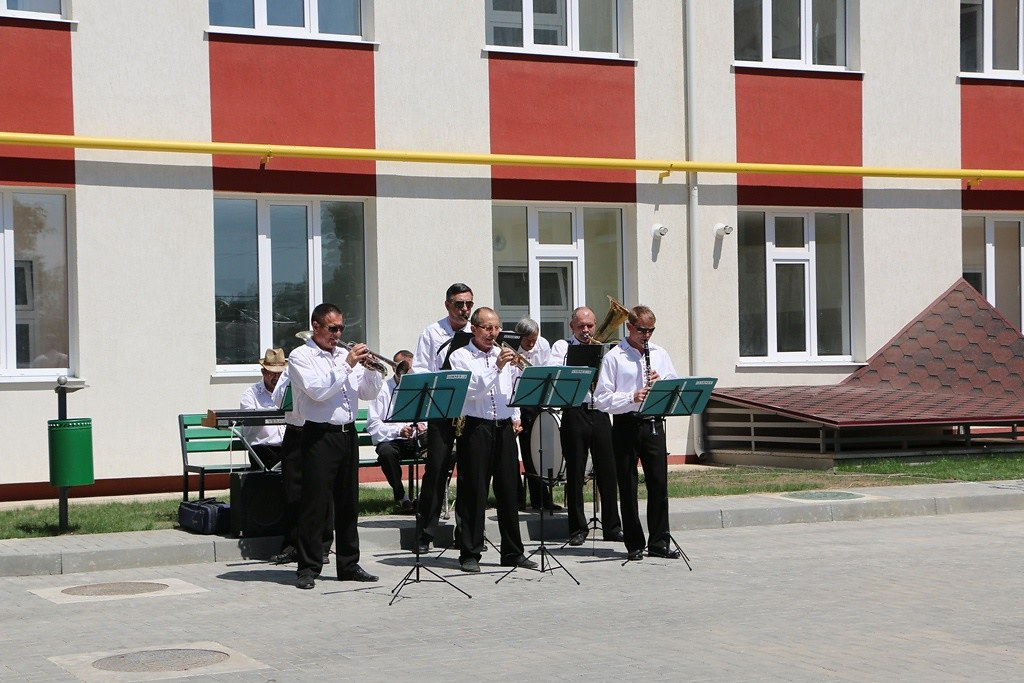 Evenimentul de inaugurare a locuințelor sociale în orașul Leova.