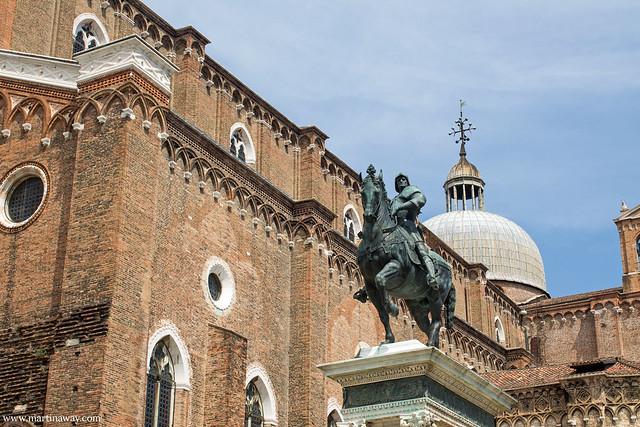 Statua del Verrocchio in Campo Santi Giovanni e Paolo