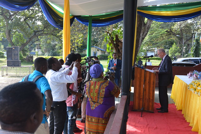 Iain Wright at Tanzania's Livestock Expo and Milk Week
