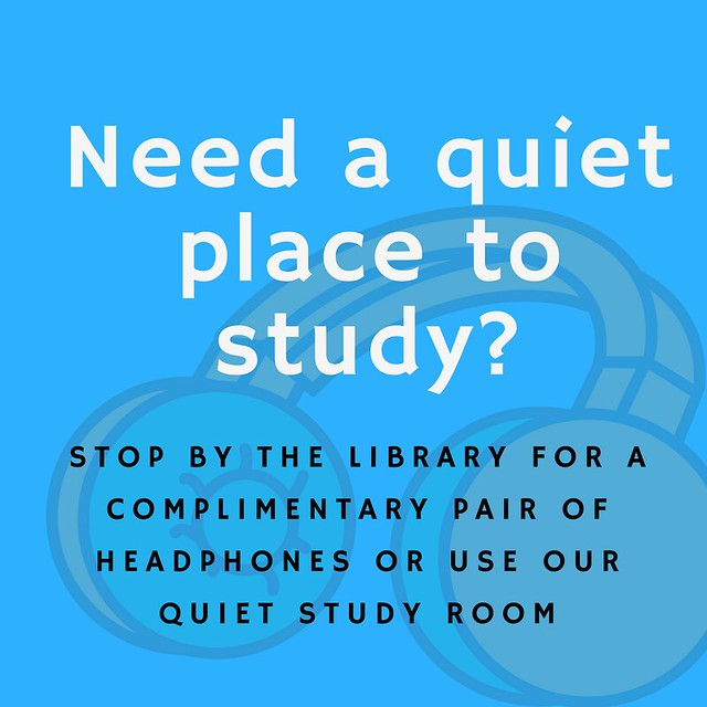 Need a quiet place to study_