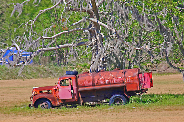 An Old Fuel Oil Truck at Kirby Family Farm, Tillerson, Florida