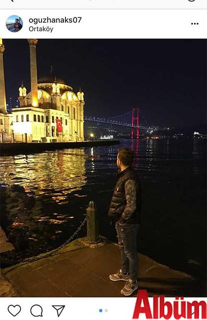 Oğuzhan Akış, Ortaköy'de çektirdiği bu fotoğrafı 'Sen ne harikasın İstanbul' notuyla paylaştı.
