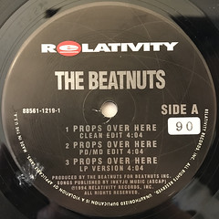 THE BEATNUTS:PROPS OVER HERE(LABEL SIDE-A)