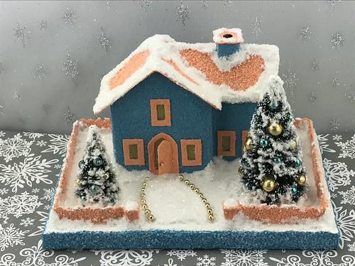 Blue and Orange Putz House
