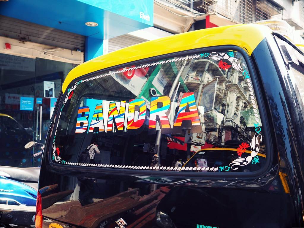 Bandra Colourful taxi Mumbai_effected