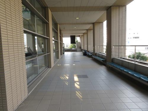 福島競馬場の2階バルコニー