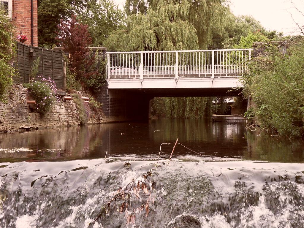 Upstream of the weir