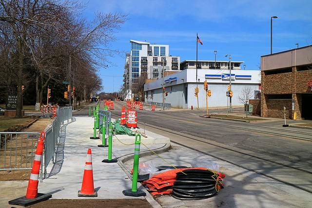 Streetcar Platform Construction at Juneau Village Towers