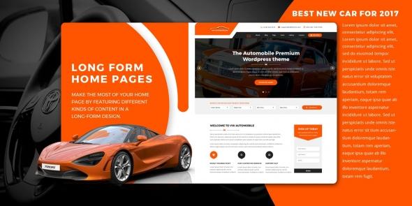 VW Automobile Pro v0.2 - WordPress Theme