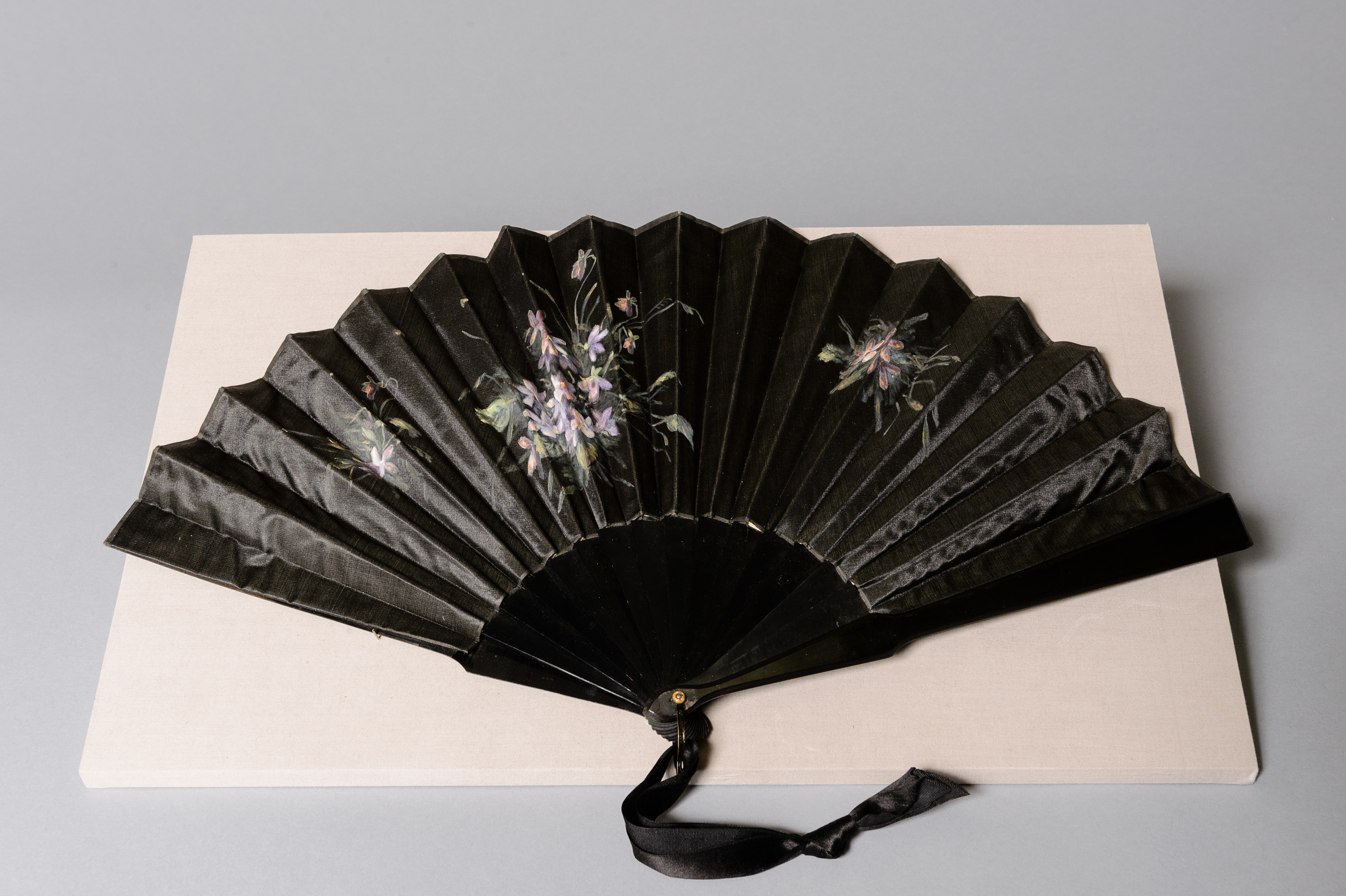 Fashion and Satire: Hand Painted Silk and Wood Fan