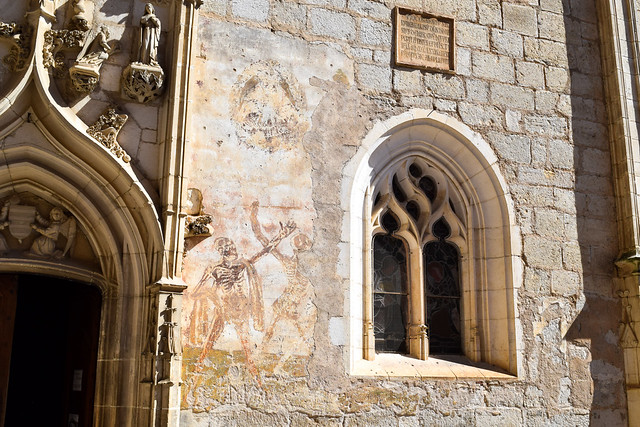 Day of the Dead Paintings at Rocamadour, France #unesco #rocamadour #france #travel #travelguide