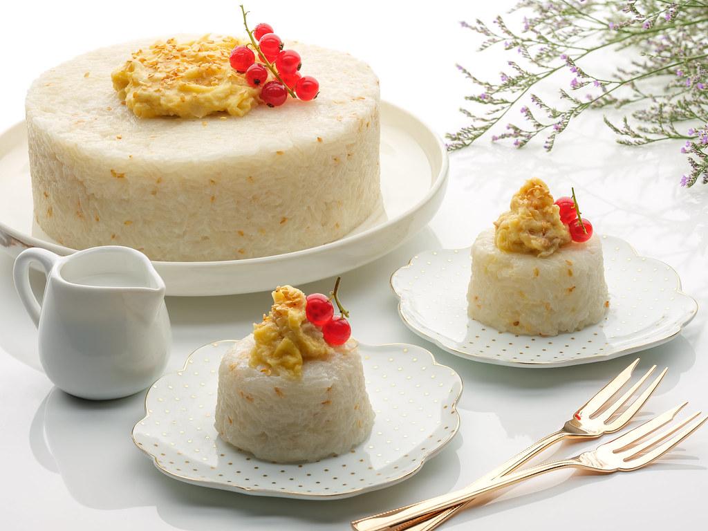 durian high tea buffet Marriott Cafe_Glutinous Rice with Durian _ Coconut Cream