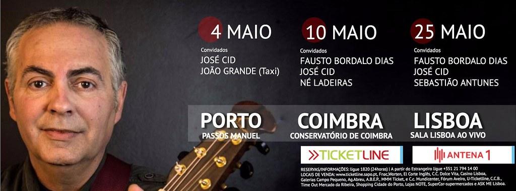 Mário Mata - concertos maio
