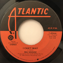 NU SHOOZ:I CAN'T WAIT(LABEL SIDE-A)