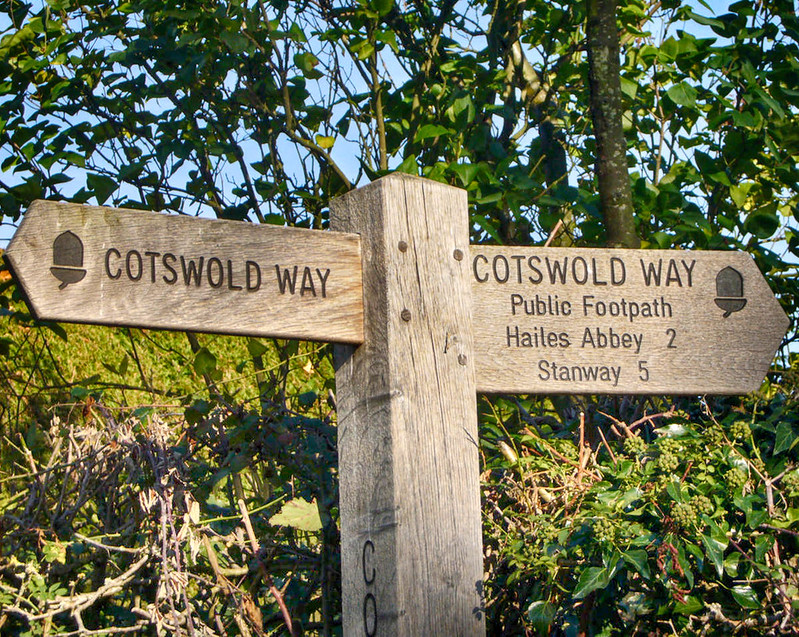 A Cotswold Way Signpost Marker. Credit Richard Cocks
