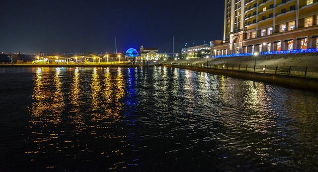 Osaka night water