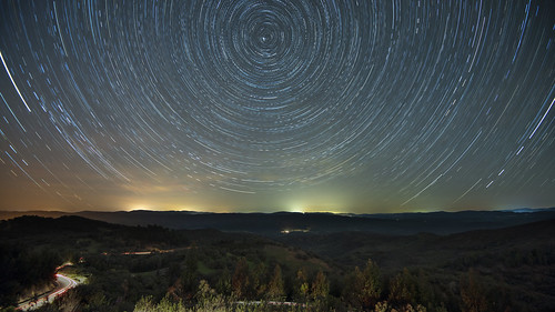 nikon d810 aracena spain espana night star trail north time lapse andalucia aracenawayscom