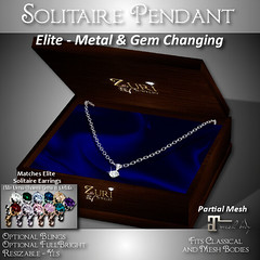 Zuri's Elite Metal & GemchangingSolitaire Pendant