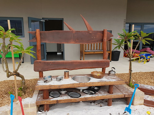 Hardwood slab mud kitchen