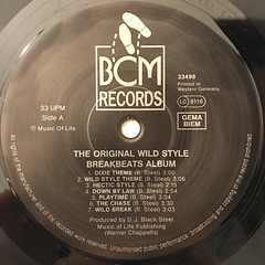 DJ BLACK STEAL:THE ORIGINAL WILDSTYLE BREAKBEATS ALBUM(LABEL SIDE-A)