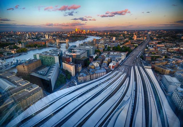 Sunset in London, United Kingdom