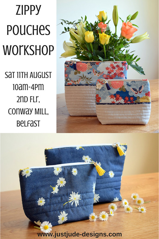 Zippy Pouches Workshop11th August, 10am-4pm2nd Flr, Conway Mill, Belfast