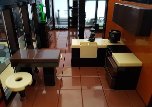 Lava House MOC kitchen and entrance