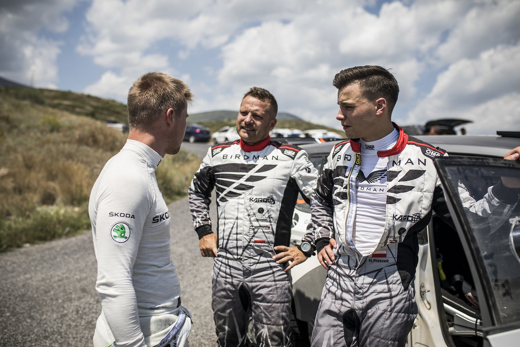 PTASZEK Hubert (pol), SZCZEPANIAK Maciej (pol), Skoda Fabia R5, portrait during the European Rally Championship 2018 - Acropolis Rally Of Grece, June 1 to 3 at Lamia - Photo Gregory Lenormand / DPPI