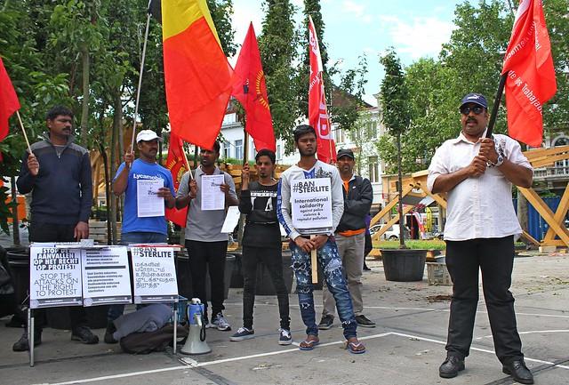 Protest tegen moorden in Tamil Nadu // Foto's door Liesbeth