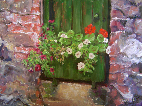 Marjory's Shed. Artist Jan Clizer