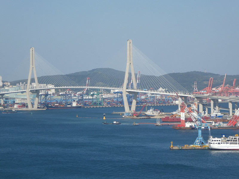 View from the Observation Deck of the Yeongdodaegyo bridge, Nampo, Busan