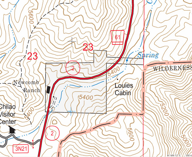 Louies Cabin Map